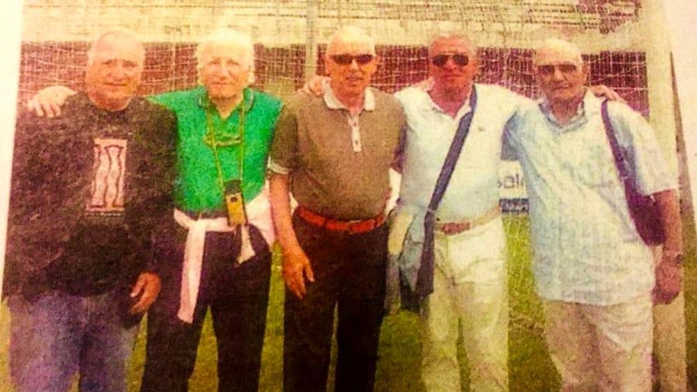 Orlando con giocatori del Messina anni 50-2