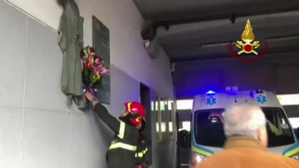 Antonino, Marco e Matteo: l'omaggio dei vigili del fuoco di Messina ai colleghi morti ad Alessandra