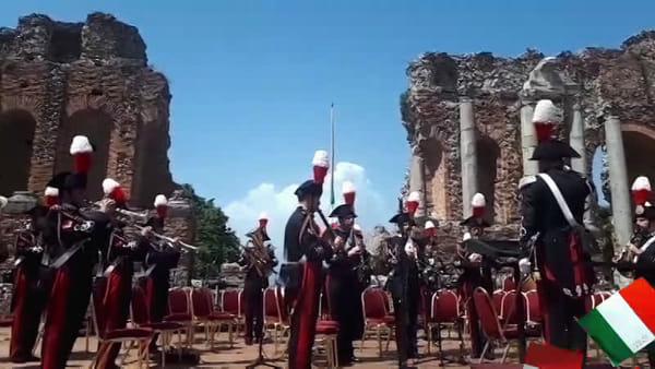 Taormina, risuonano le prime note del concerto dei carabinieri