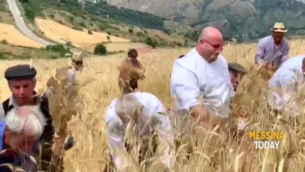 Gli ambasciatori del gusto a Galati Mamertino per la mietitura, la doppia festa dello chef Caliri