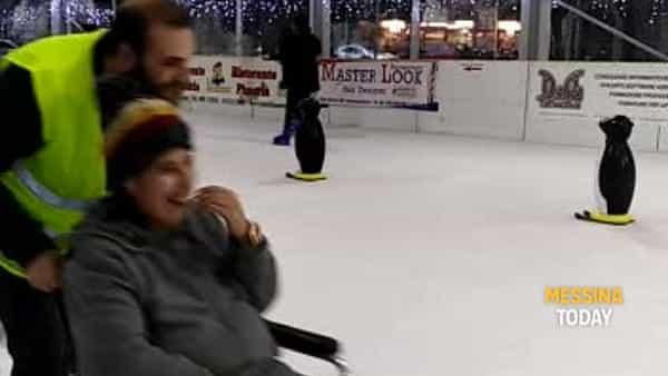 Disabili sulla pista di ghiaccio, una giornata dedicata al Sociale VIDEO