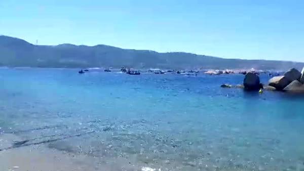 Corteo di barche a Capo Peloro, Torre Faro saluta Giuseppe Sanò VIDEO