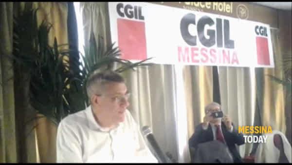 """Cgil, il segretario Landini a Messina: """"Oggi è povero anche chi ha un lavoro"""""""