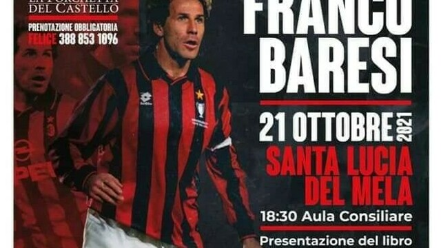 "Franco Baresi in Santa Lucia del Mela to present the book ""Free to dream"" thumbnail"