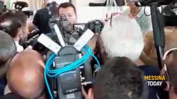 """Crisi di governo, Salvini a Taormina: """"Non capisco la paura del voto, chi perde tempo lo fa per la poltrona"""""""