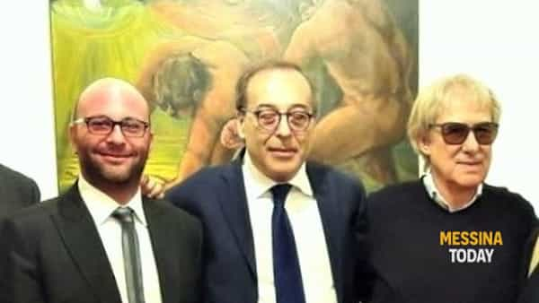 Il sindaco Filippo Bonansinga con l'assessore Carmelo Arcoraci e il maestro Lorenzo Chinnici-2