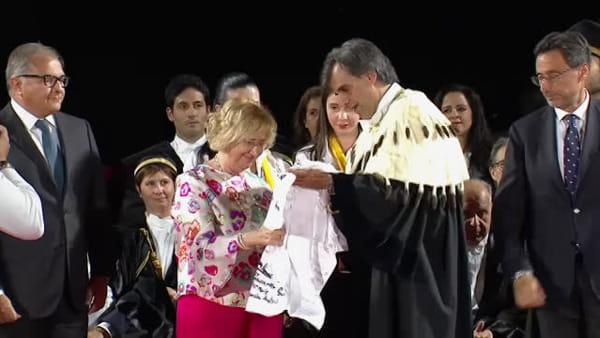 Diplomi di laurea, la cerimonia di consegna a Taormina  in memoria di Falcone e Borsellino | VIDEO